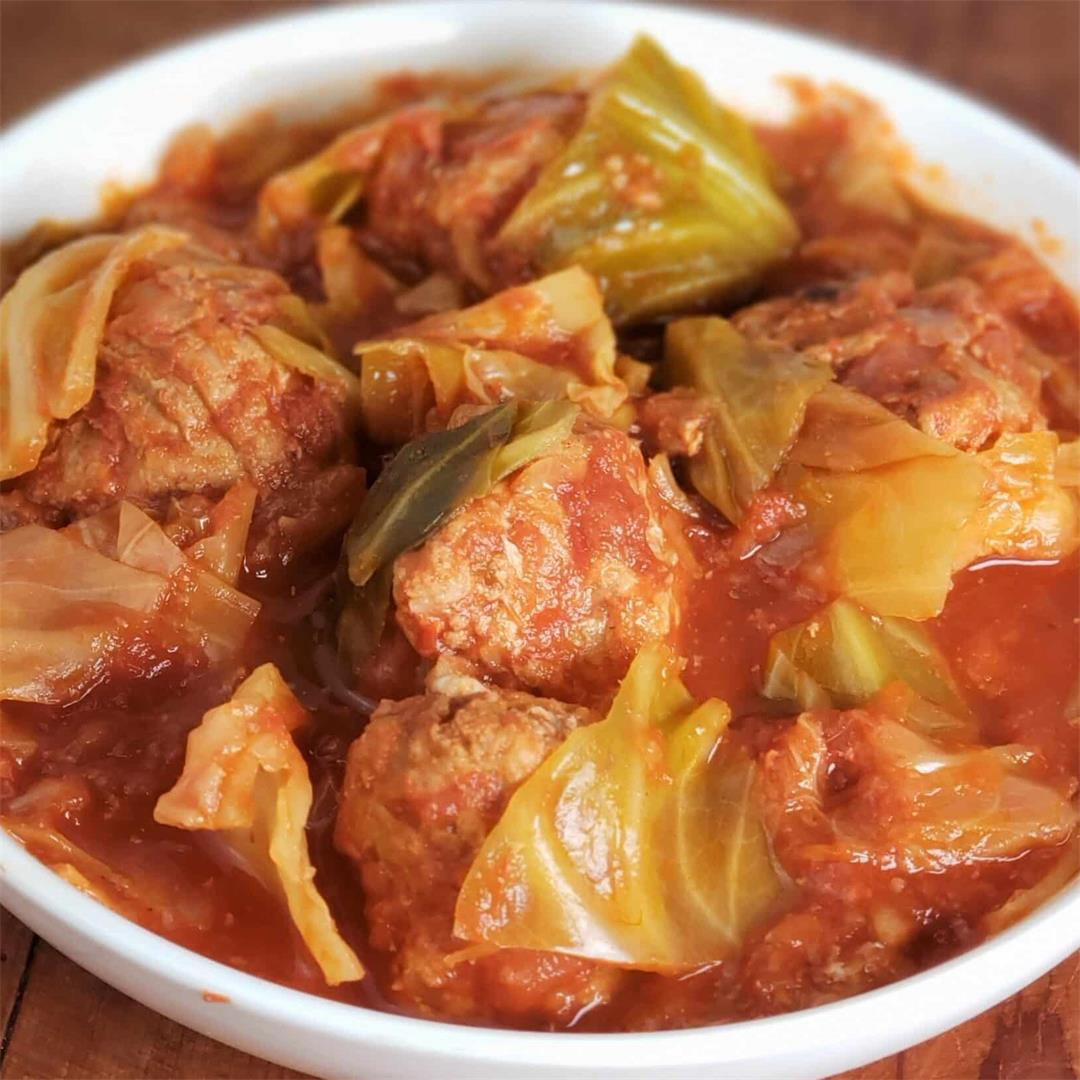 Instant Pot LOW CARB Sweet & Sour Unstuffed Cabbage Rolls