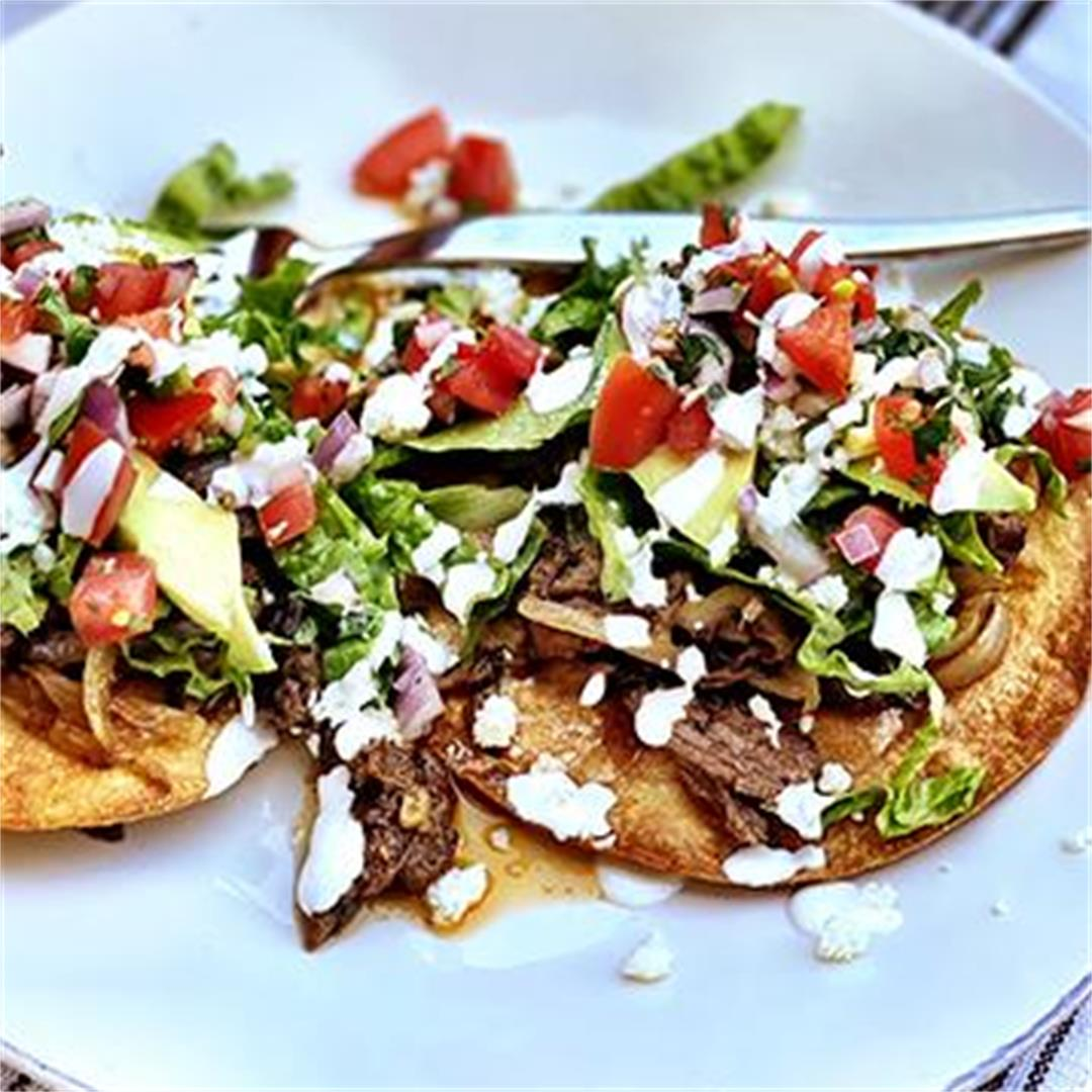 Crispy Wagyu Beef and Lime Tostadas