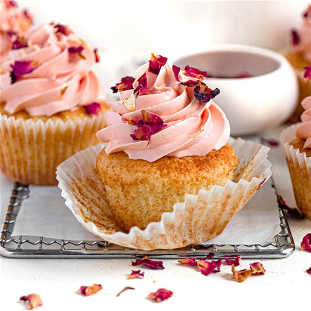 Lychee and Rose Cupcakes