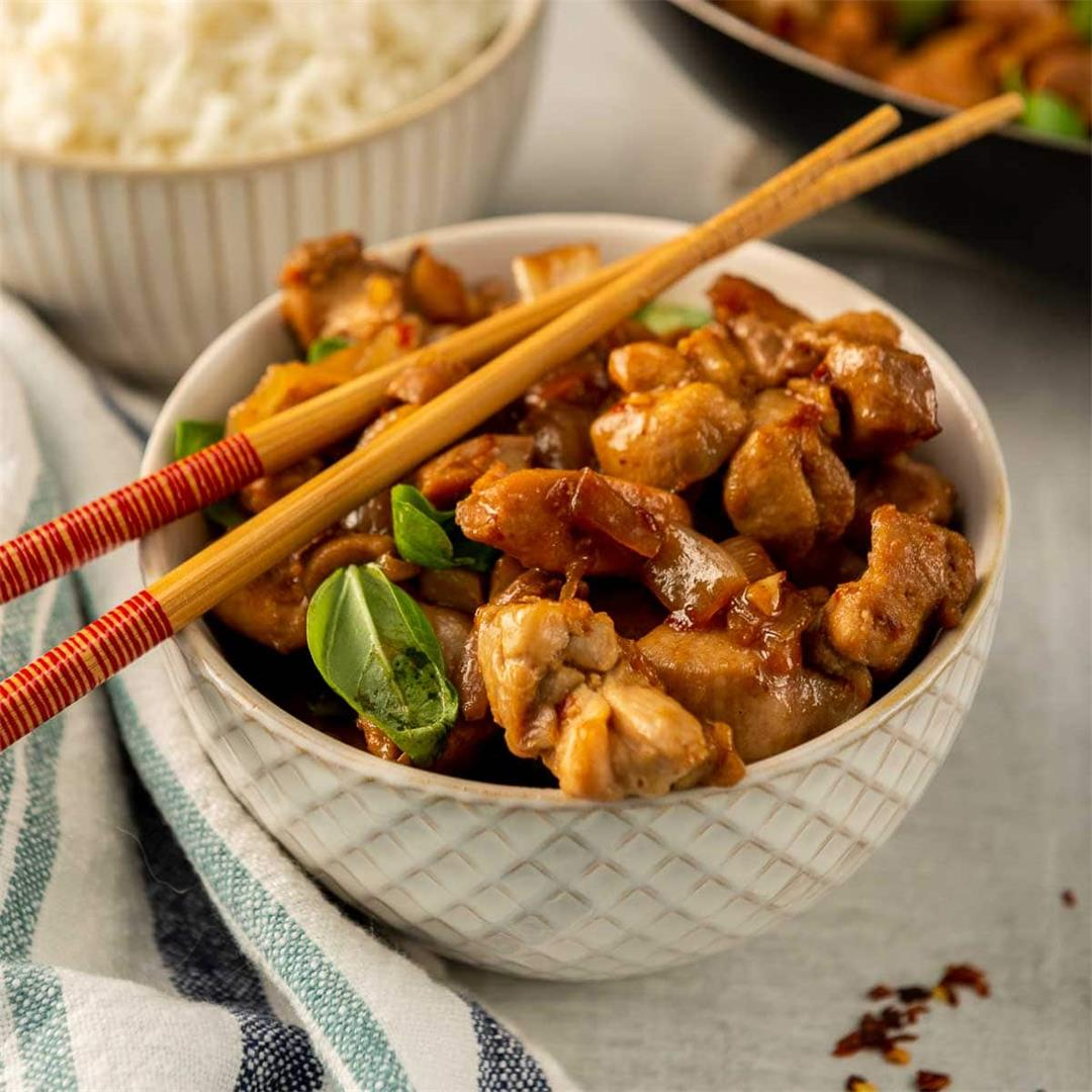 Taiwanese Three-Cup Chicken