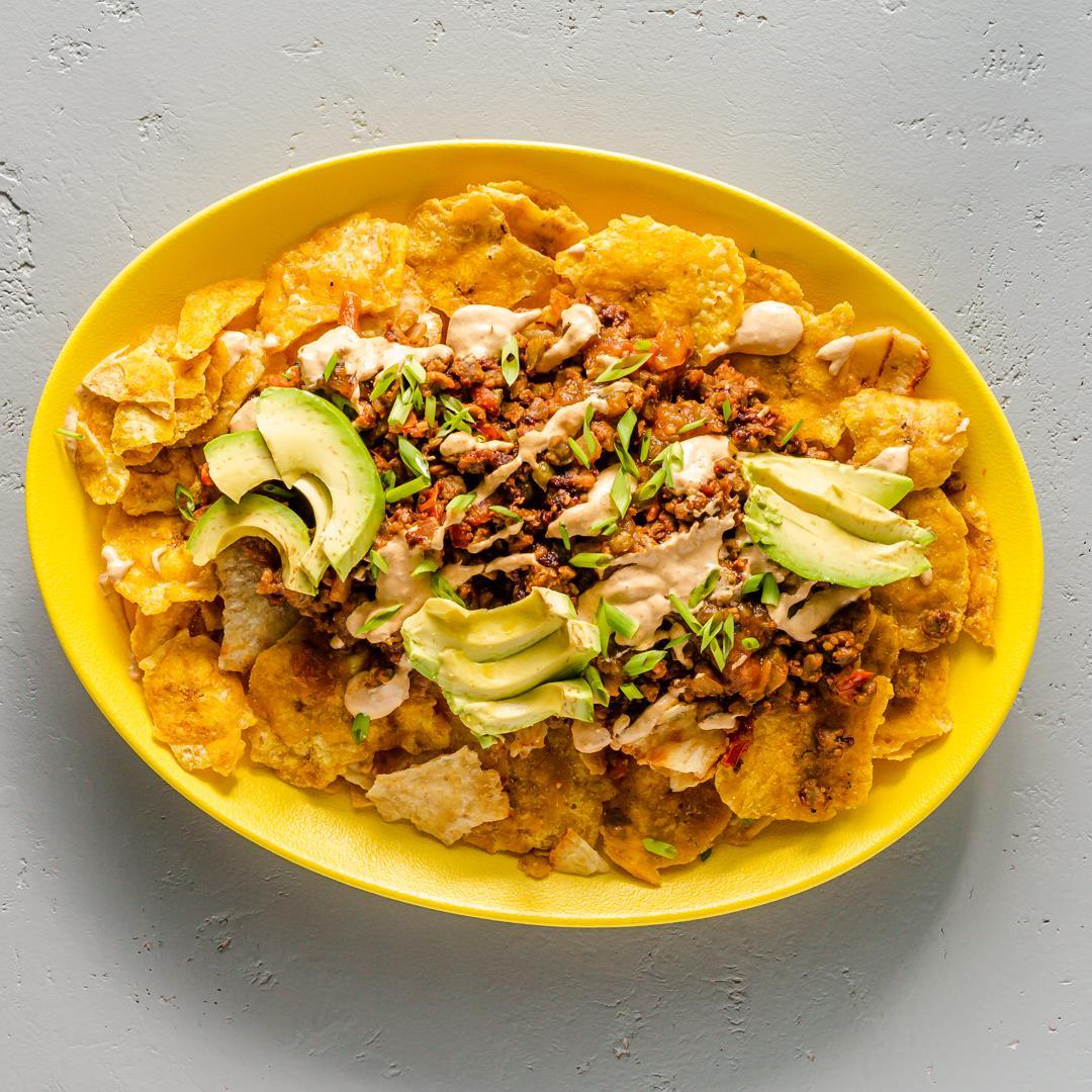 The Best Vegan Nachos with Fig Salami & Cashew Dip