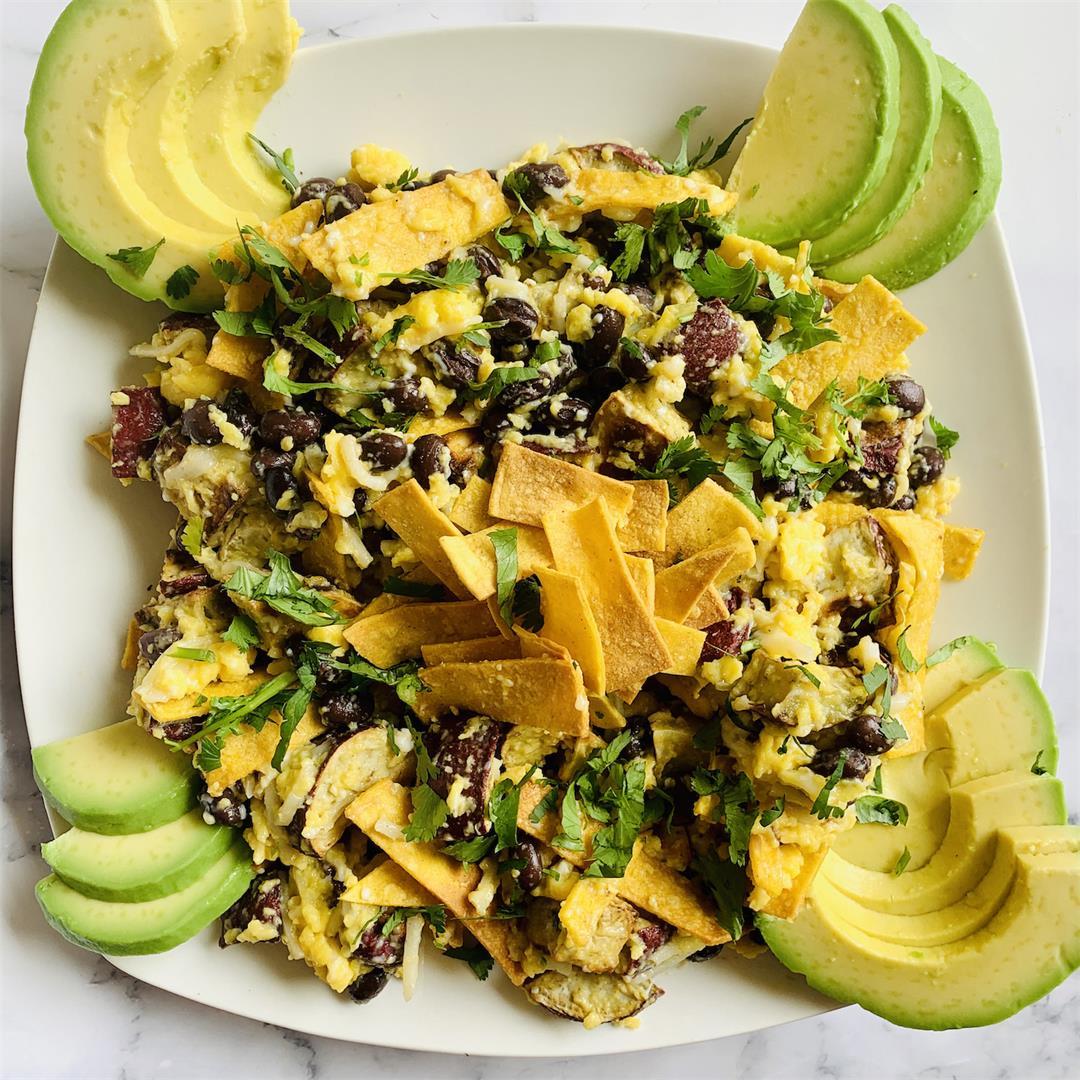 Healthier Sweet Potato Migas