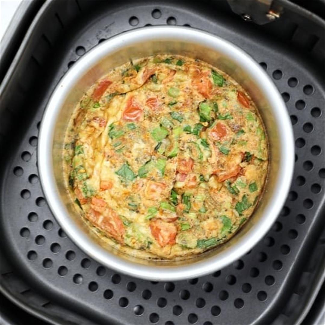 Air Fryer Omelette Frittata Recipe