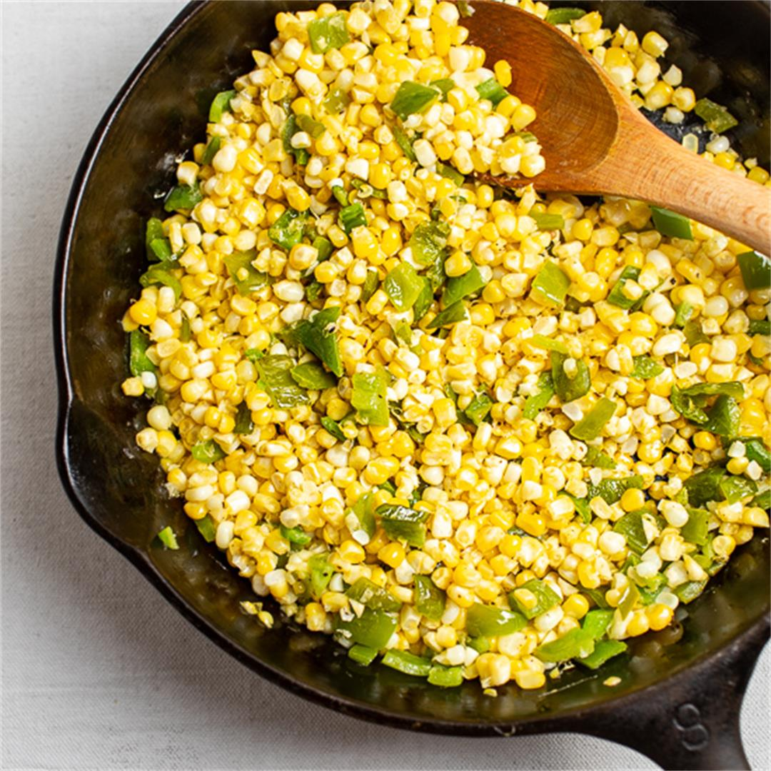 Skillet Corn with Peppers