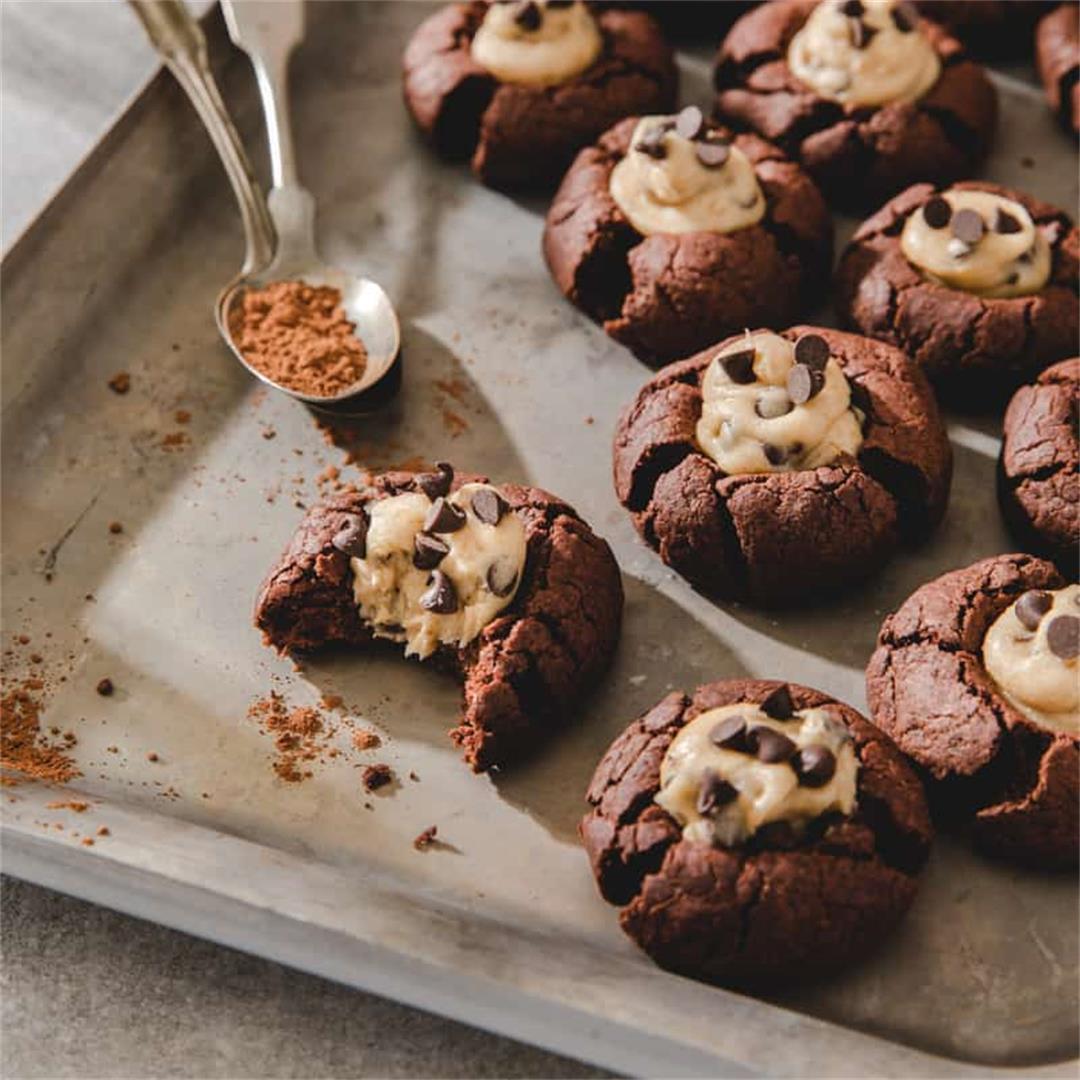 Brownie Thumbprint Cookies Gluten Free