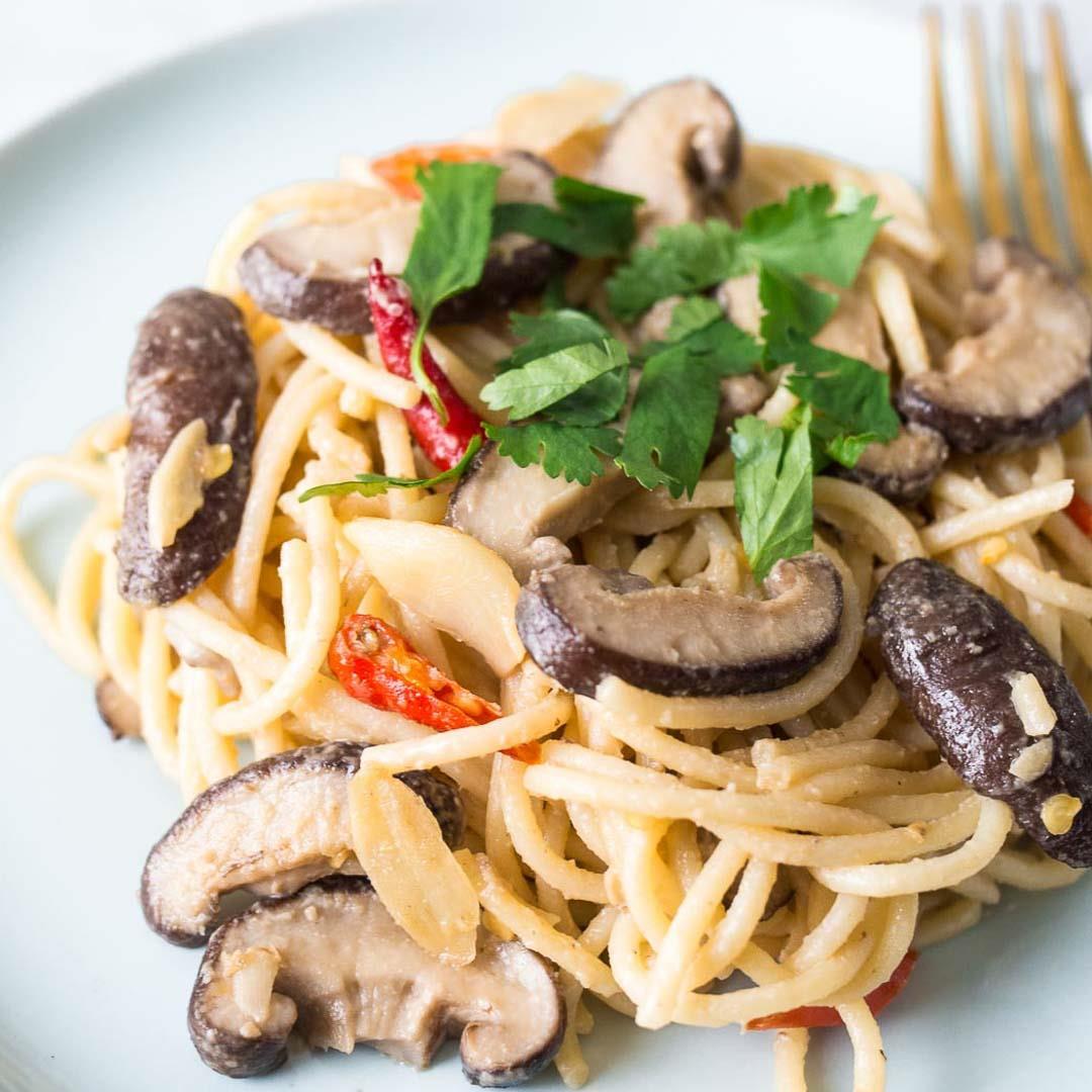 Miso Pasta with Shiitake Mushrooms Recipe