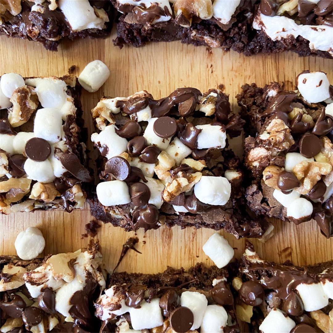 Rocky Road Brownies – Sugary Logic