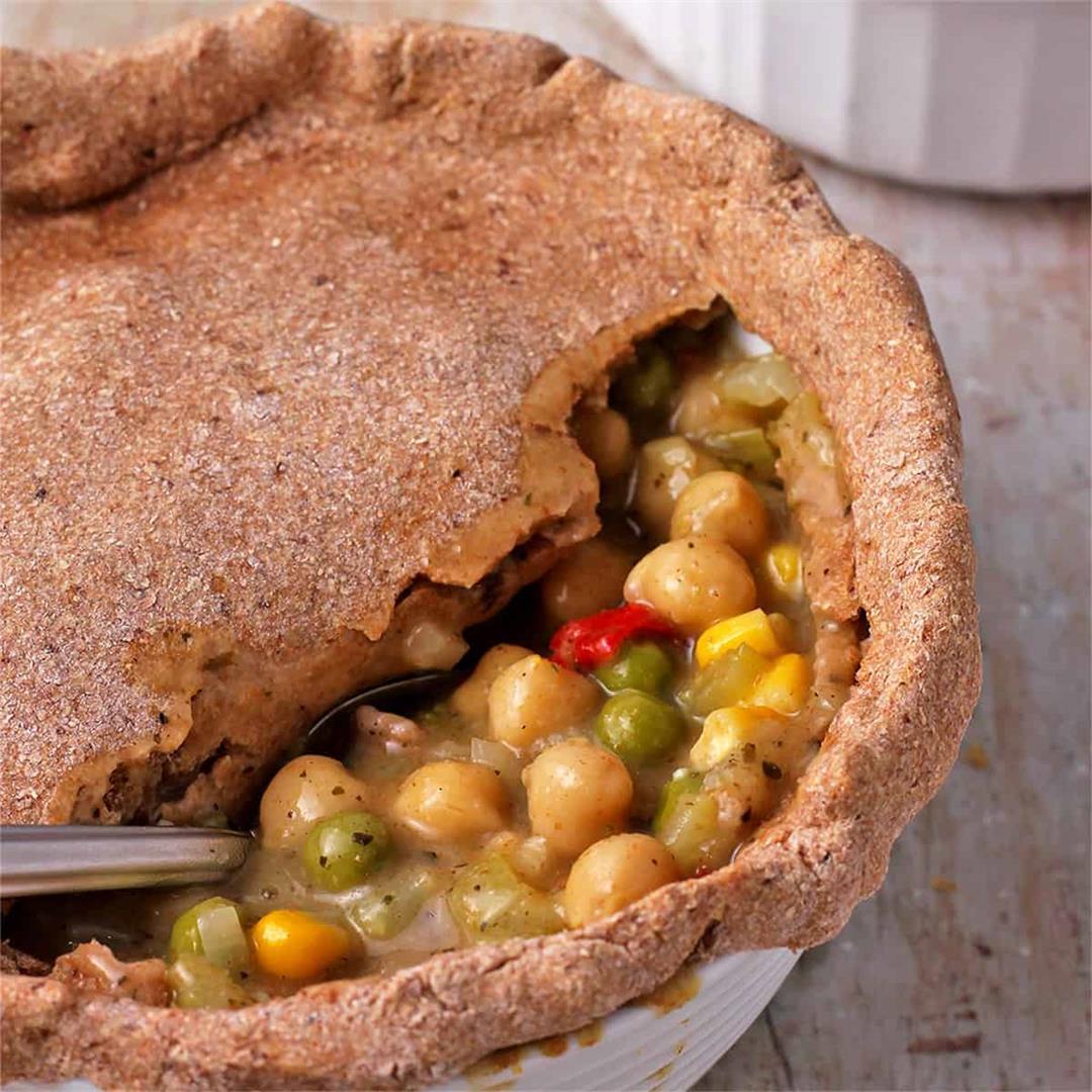vegan pot pies with oil-free pie crust