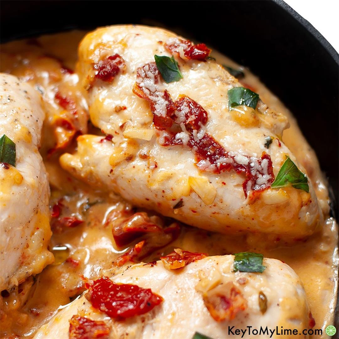 Marry Me Chicken {Creamy Sun Dried Tomato Chicken}