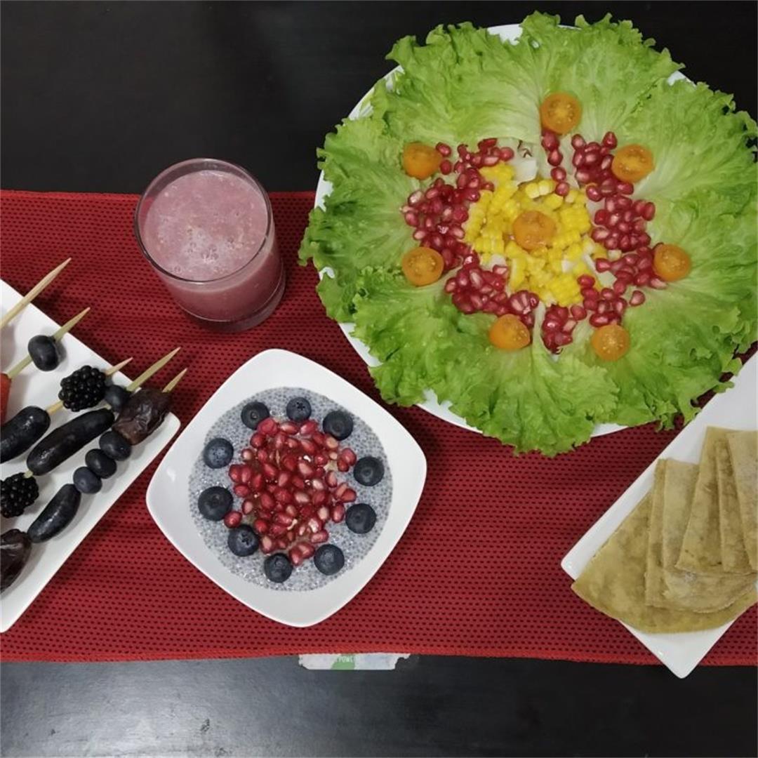 A change to regular Iftar-Veg Iftar Platter for Ramadan 2021