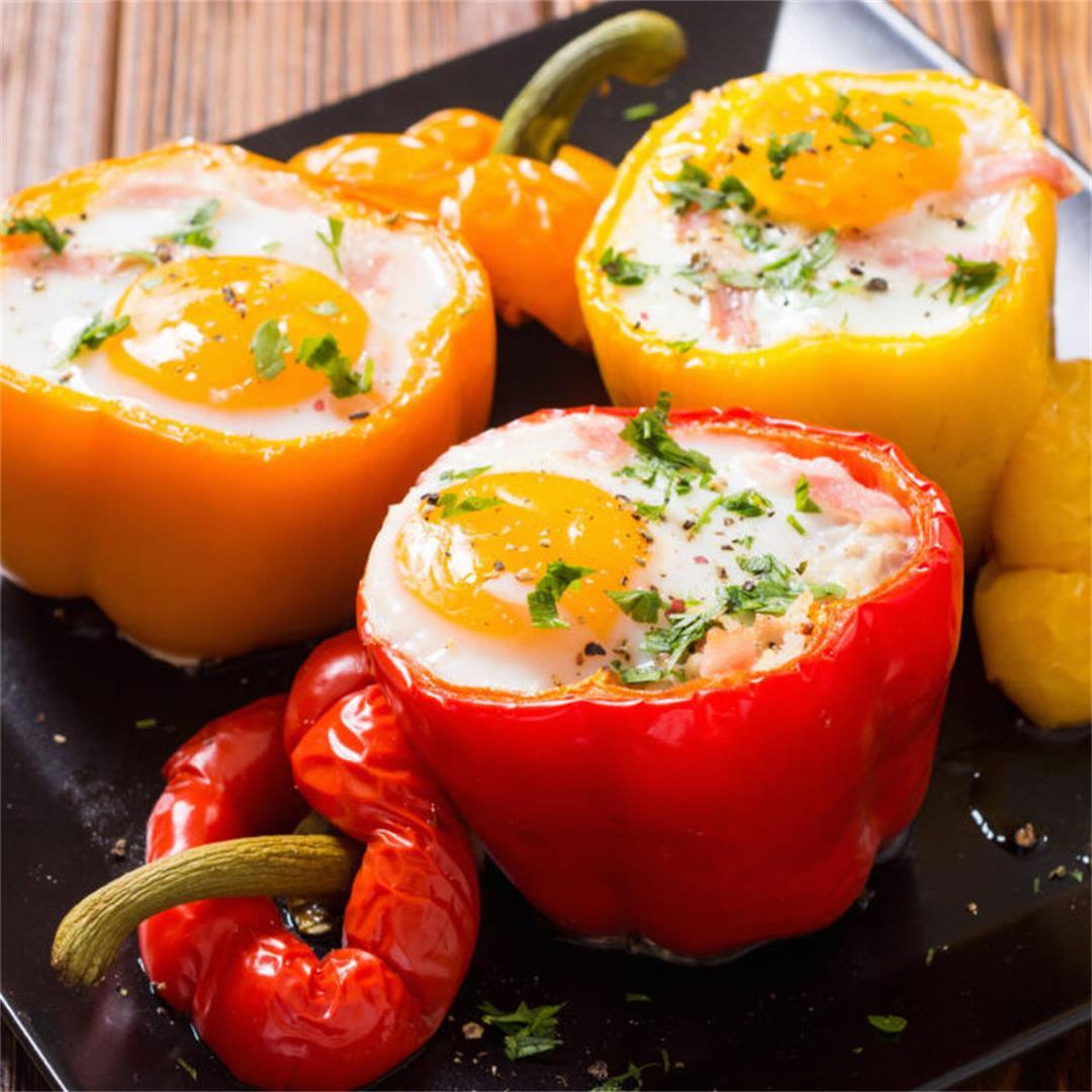 Breakfast Stuffed Bell Peppers By HangryQ