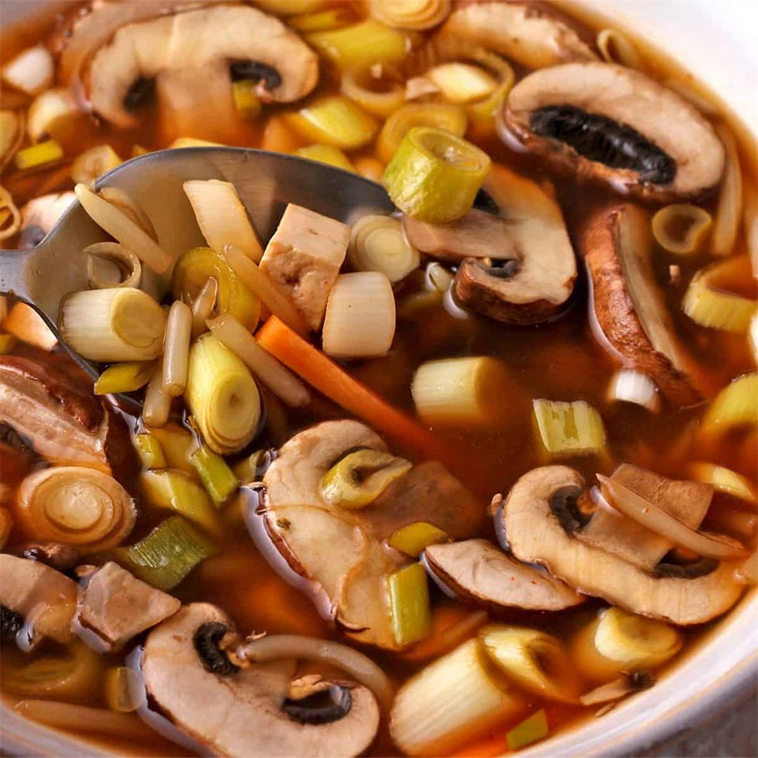 Instant Pot hot and sour soup(plant-based)