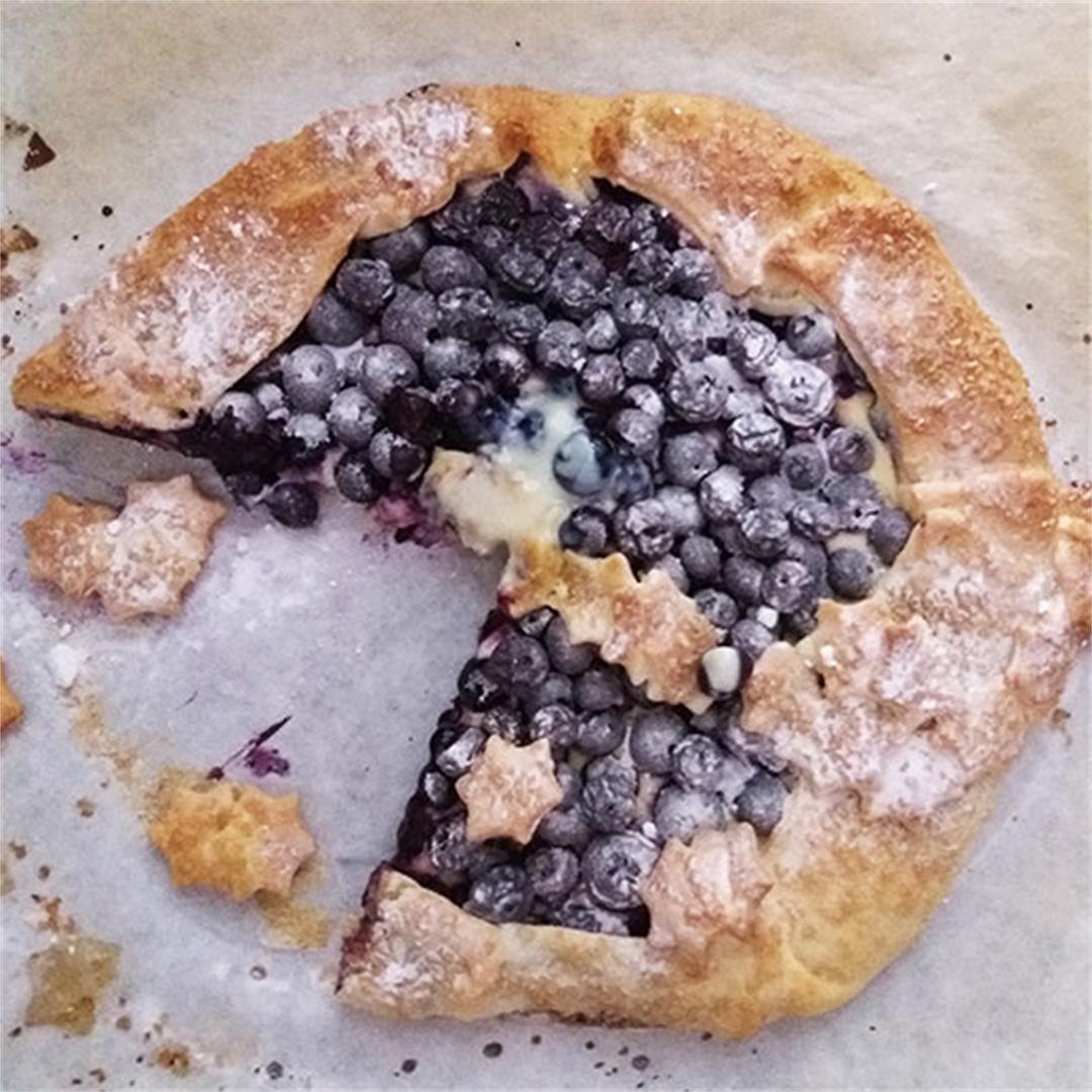 Blueberry Mascarpone Galette Recipe