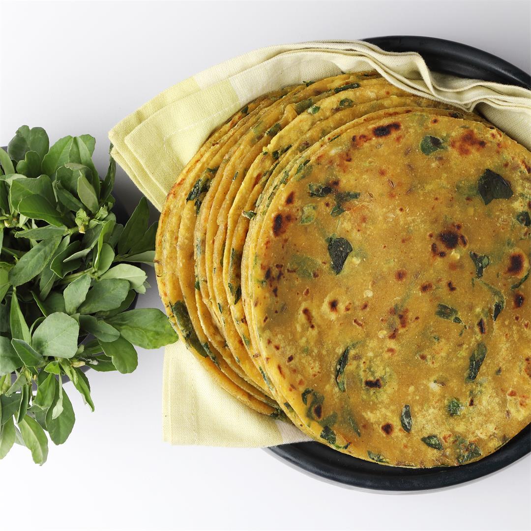 Methi Paratha (Fenugreek Leaves Flatbread)