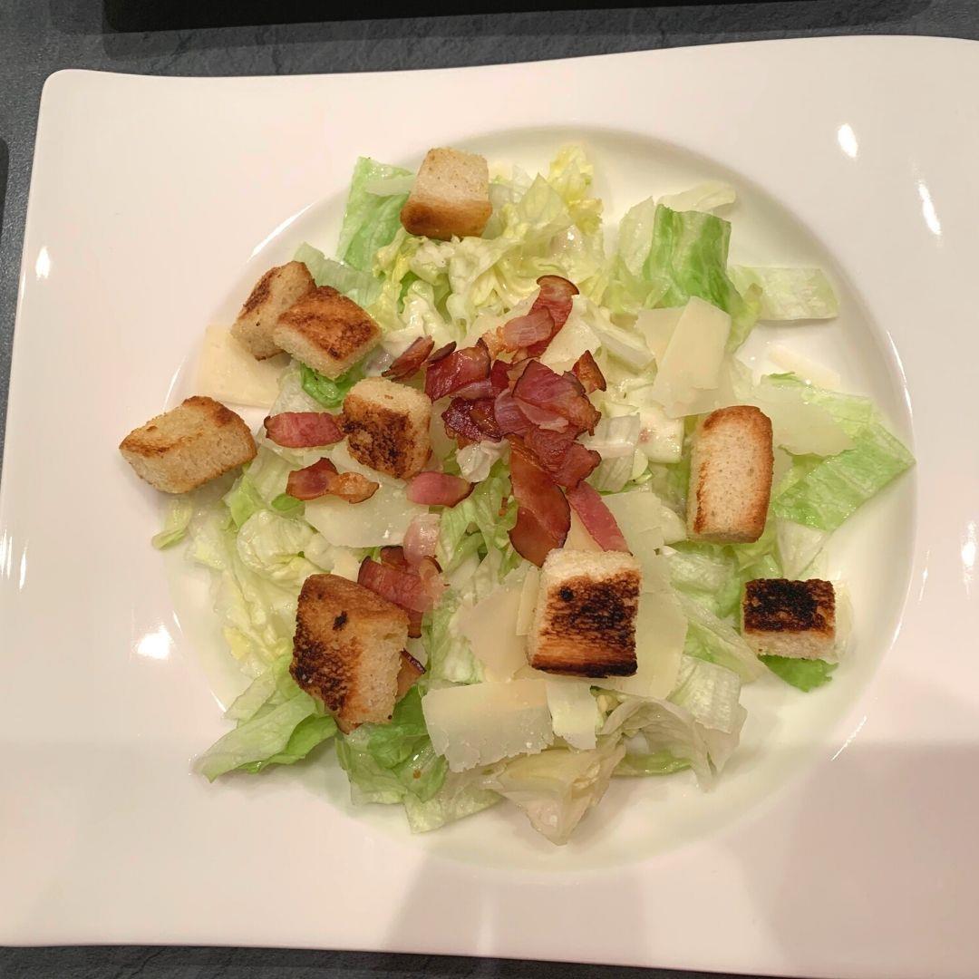 Caesar Salad with homemade dressing