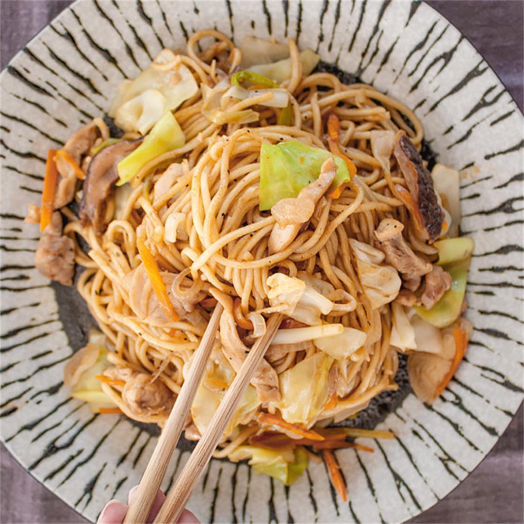 Chicken Yakisoba Noodles