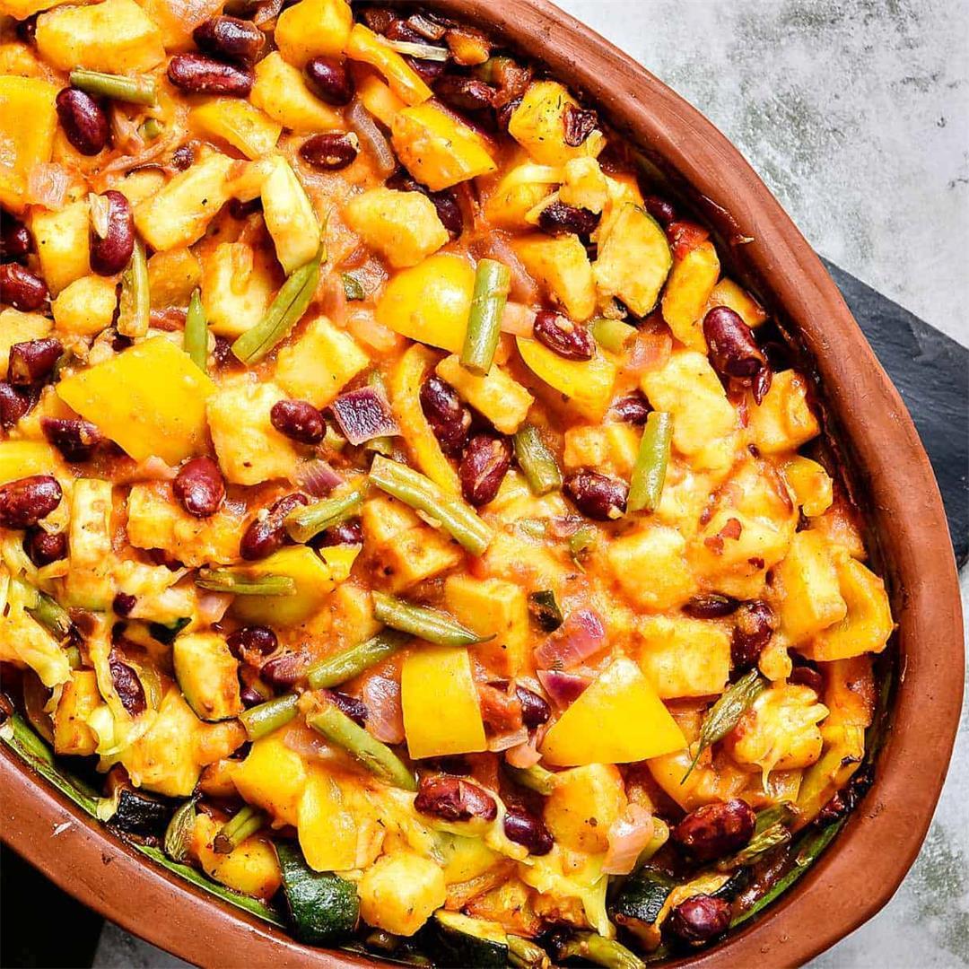 Cheesy Polenta & Bean Bake, Easy and Delicious!