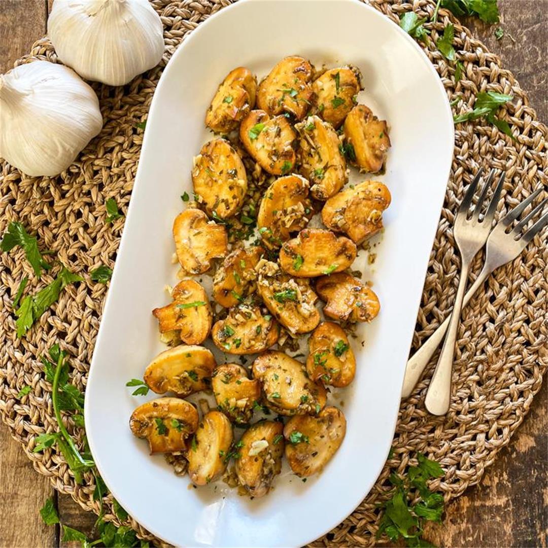 Spanish Vinegar & Garlic Mushrooms