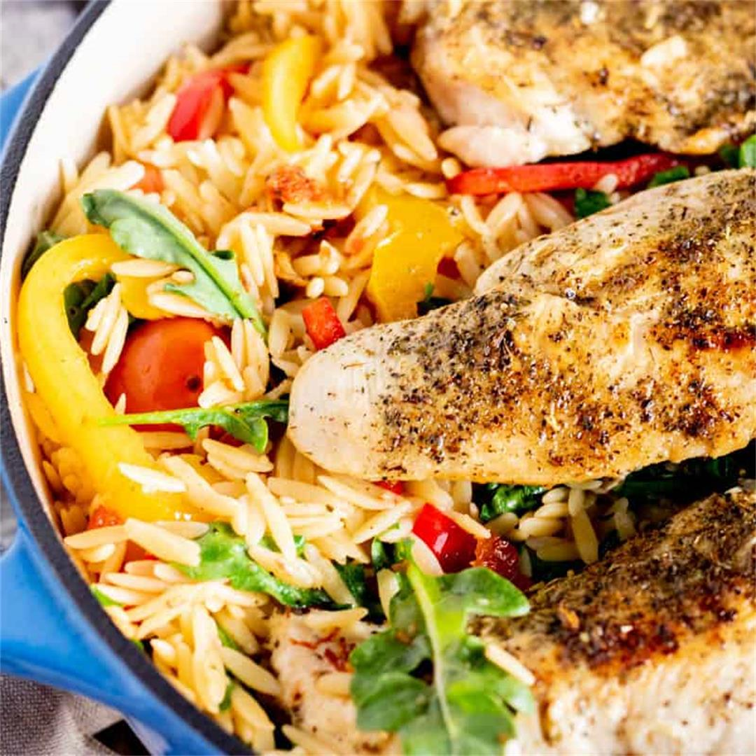 Tuscan Chicken Orzo