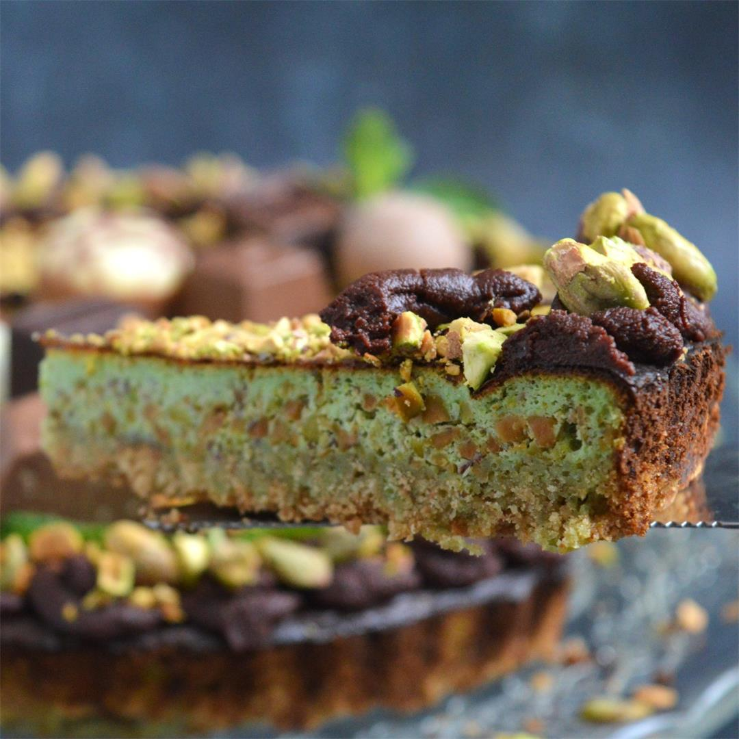 Dark Chocolate Pistachio Cheesecake — Tasty Food for Busy Mums