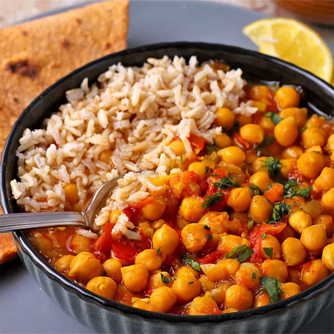 easy Instant Pot chana masala