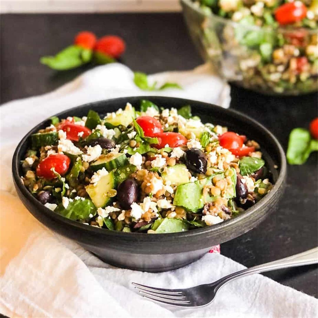 Greek Lentil Salad with a Zesty Vinaigrette
