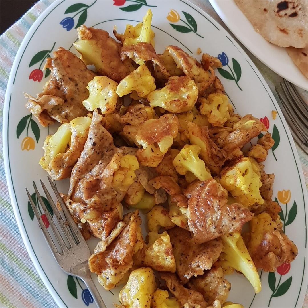 Cauliflower Egg Fritters/ How to make Gobi Anda Fritters