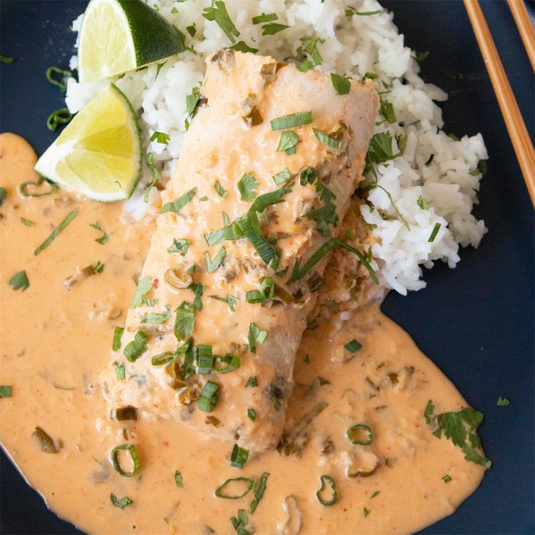 Sous Vide Mahi-Mahi Recipe with Thai Coconut Curry Sauce