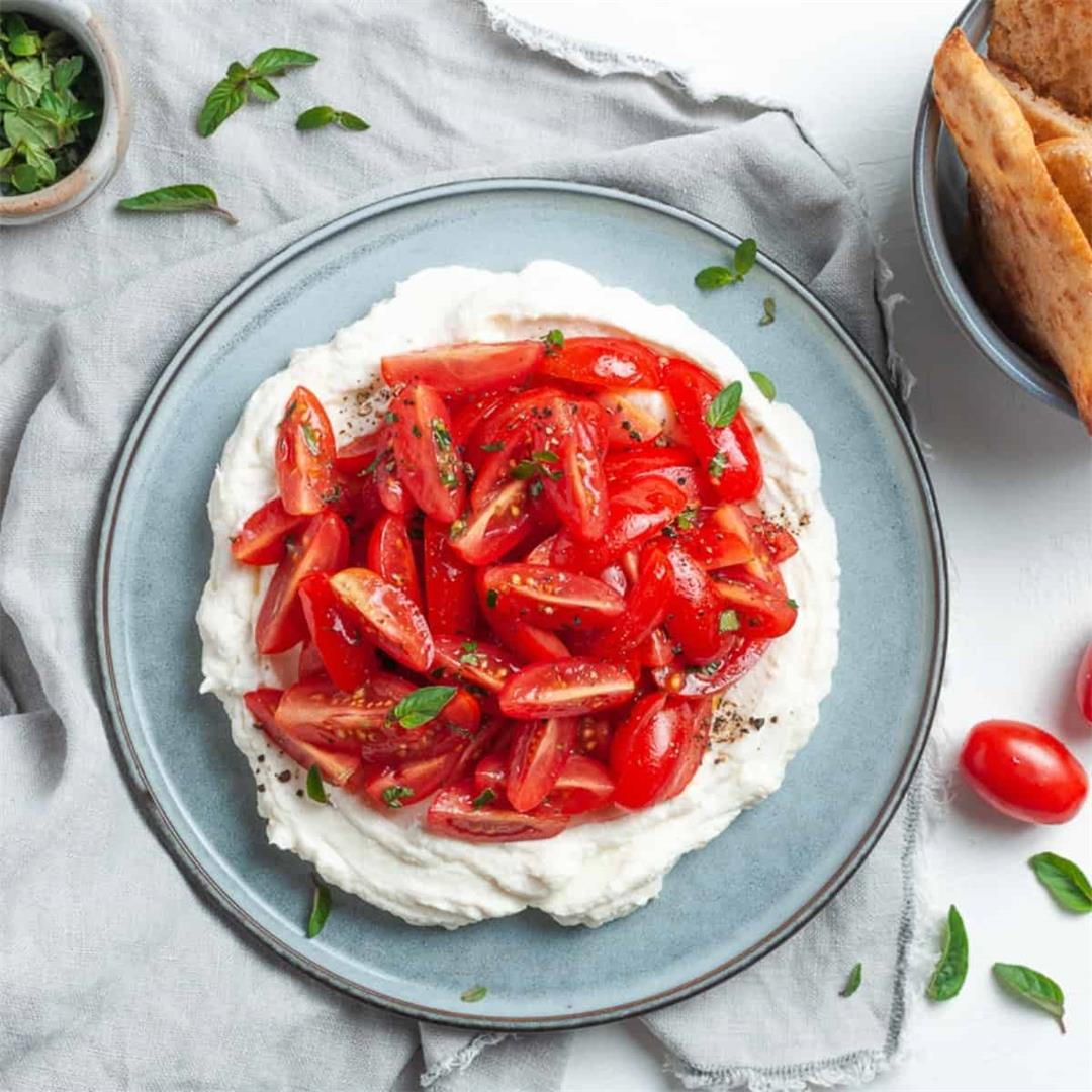 Whipped Ricotta with Tomatoes
