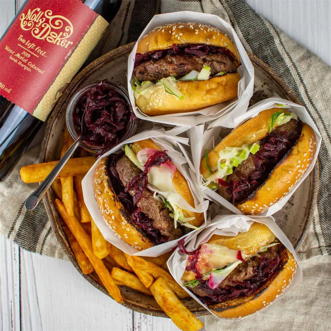 Aussie 'style' Burger w/ Beetroot Relish