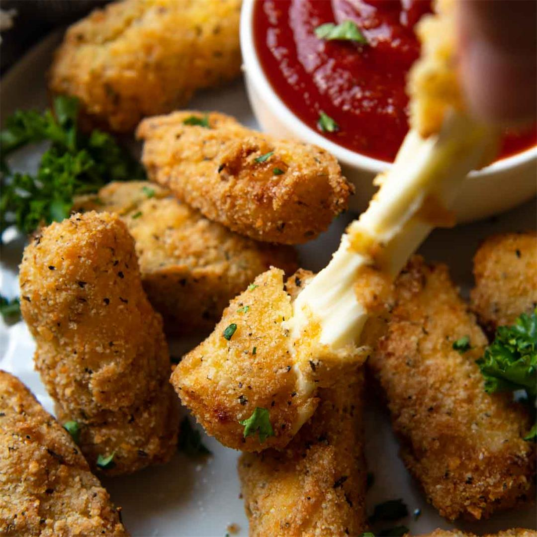 Gluten Free Mozzarella Sticks {low carb}