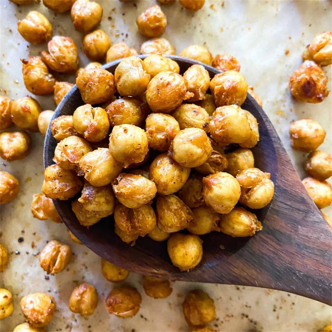 Crispy Roasted Chickpeas – Sugary Logic