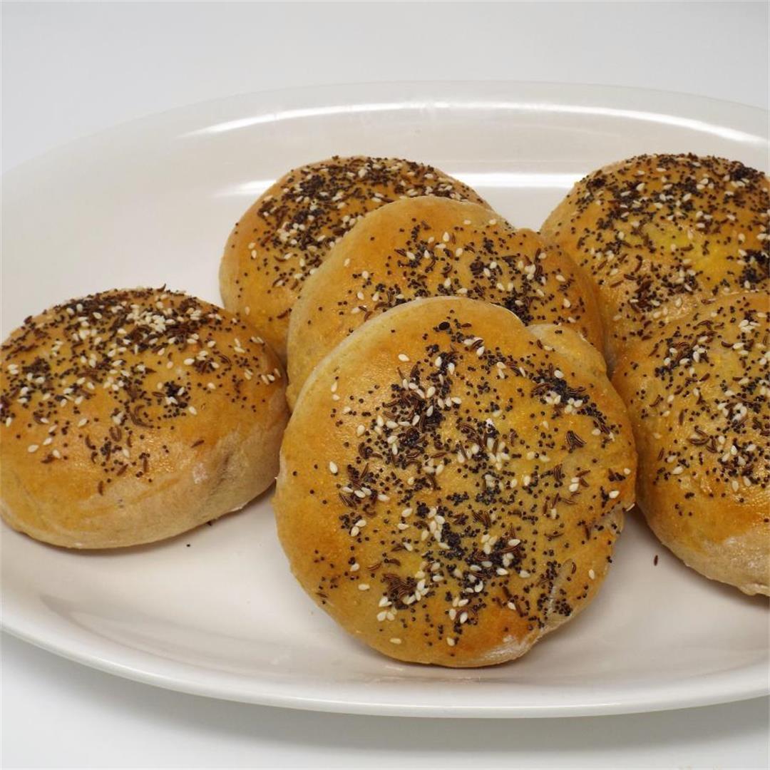 Seeded Rye Sandwich Rolls