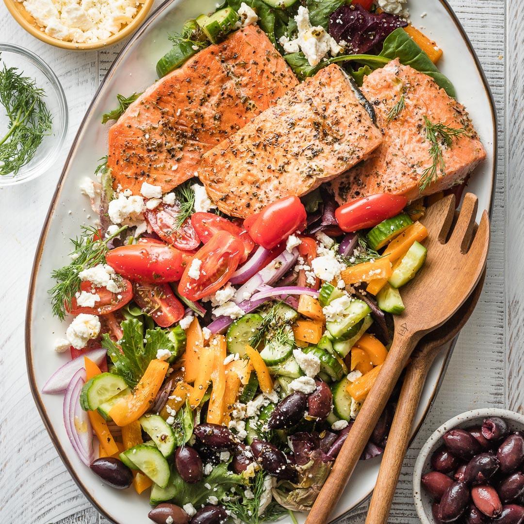 Greek Salmon Salads