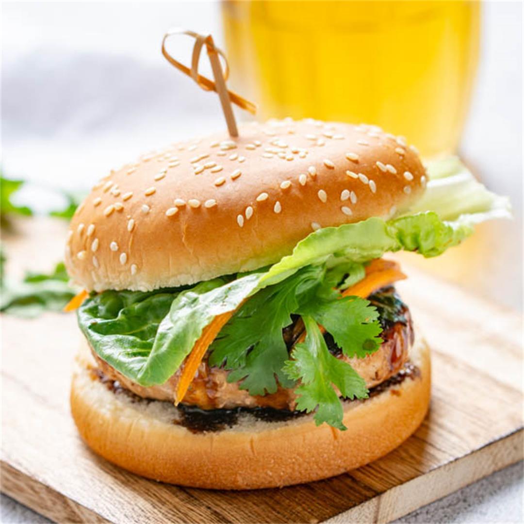 Char Siu (Chinese BBQ Pork) Burger