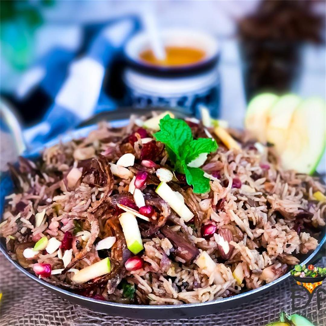 Kashmiri Pulao – Mildly Sweet and Tart Apple Rice Recipe