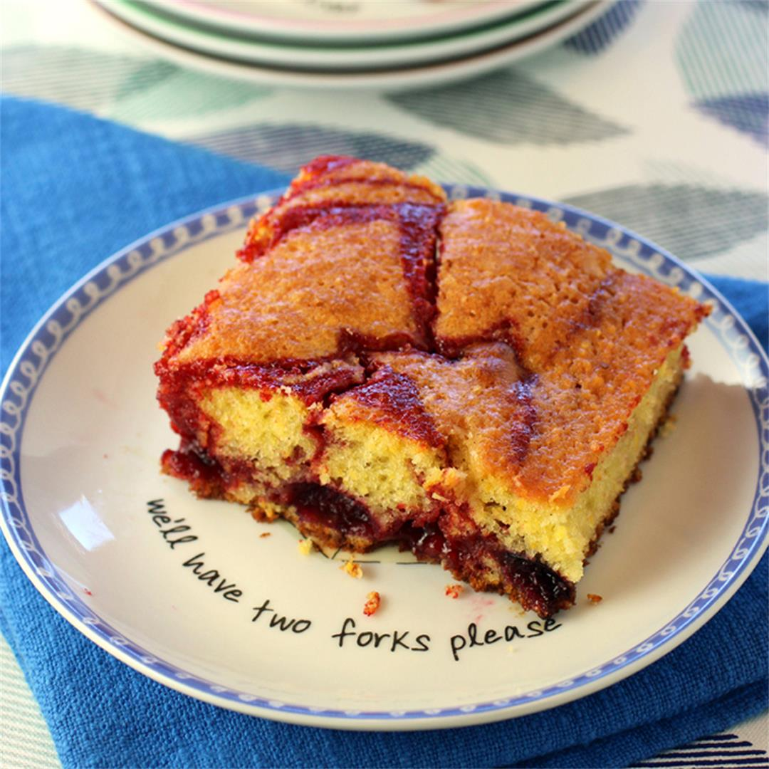 Cherry snacking cake
