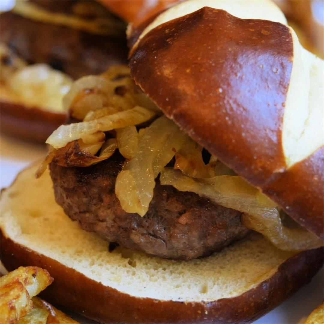 Grilled Ground Sausage Burgers Recipe