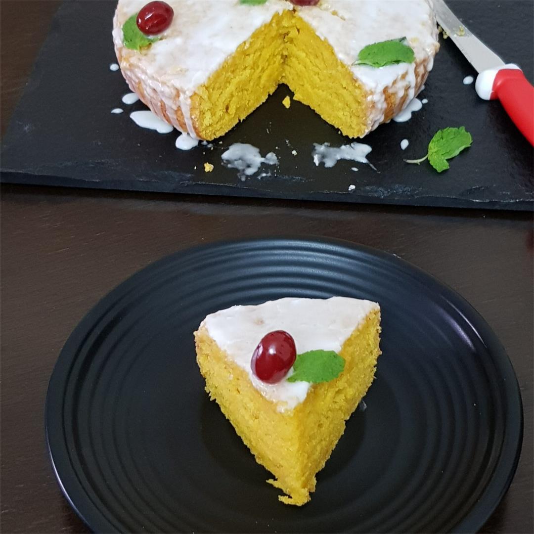 Easy Mango Cake/ Eggless Butterless Mango Cake