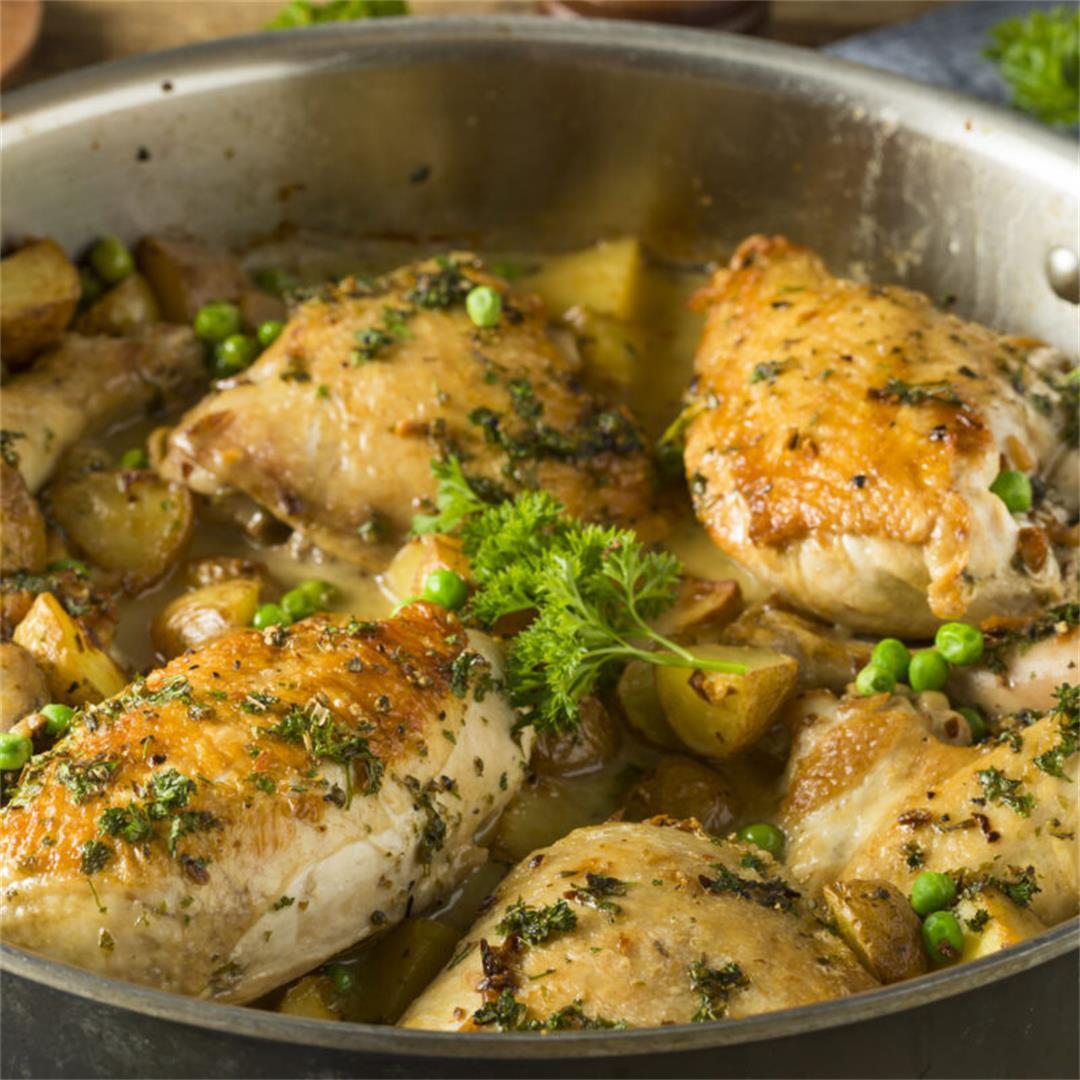 Chicken Vesuvio Dish (Chicago Style)