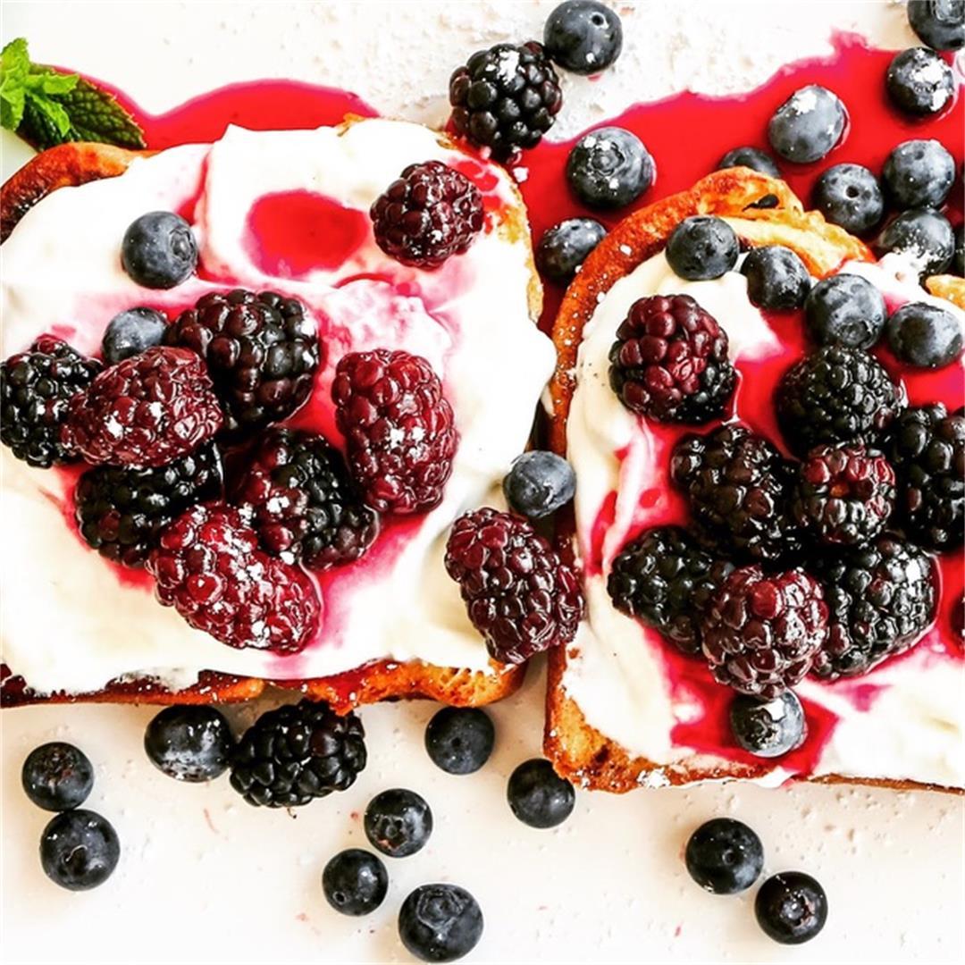 Brioche French Toast w/Berry Syrup
