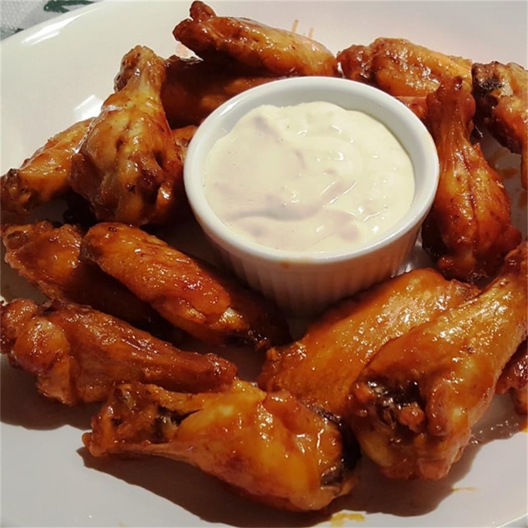 Air Fryer Buffalo Chicken Wings [better than Hot Wings Café on