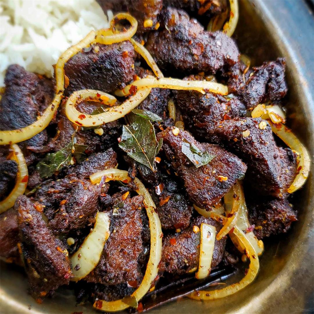 Simple Spicy Beef Fry