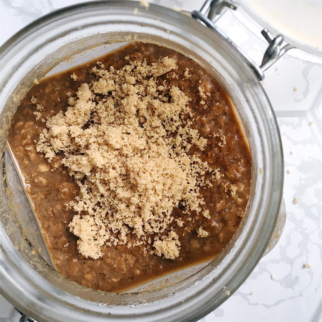 Brown Sugar Espresso Oat Milk Overnight Oats