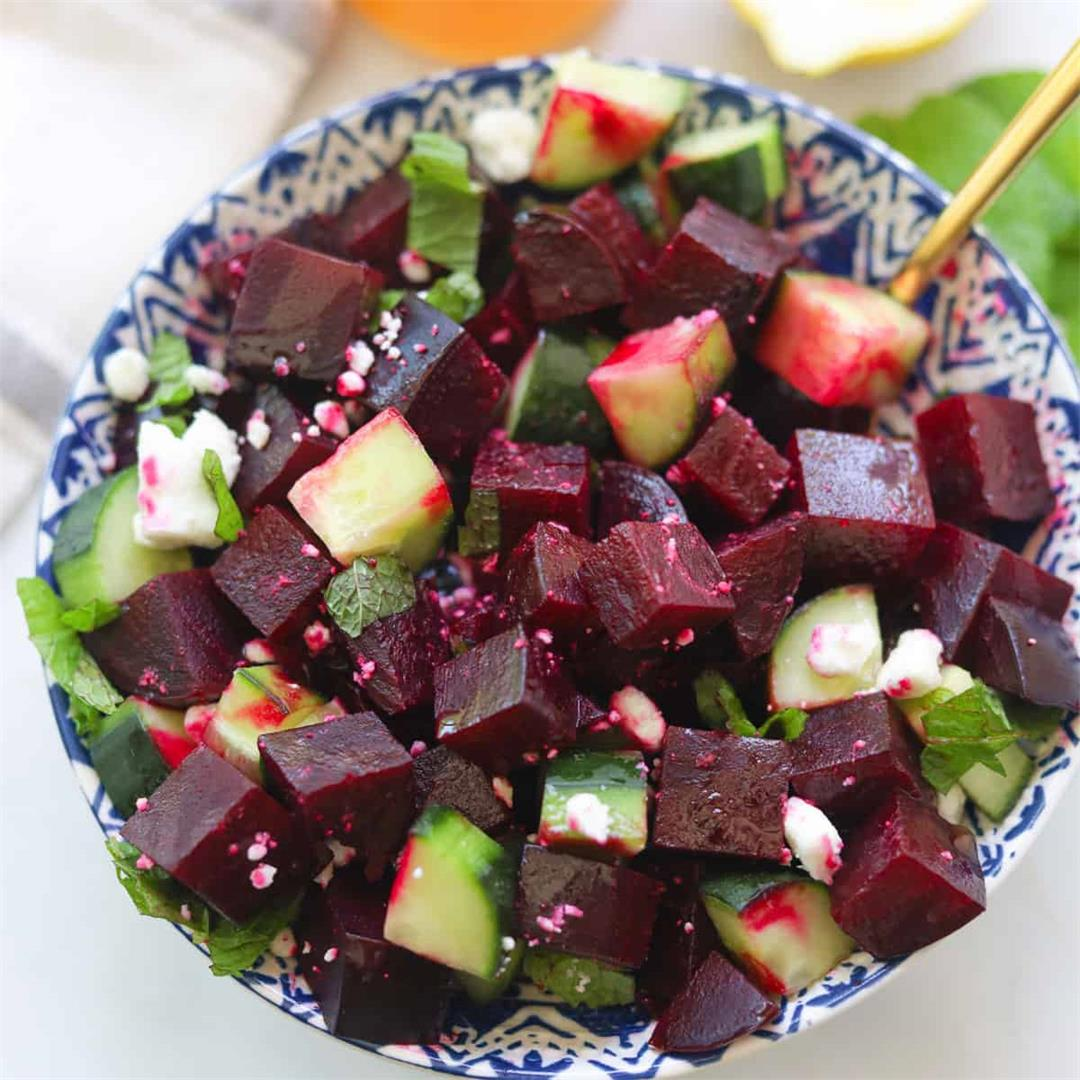 Red Beet and Cucumber Salad