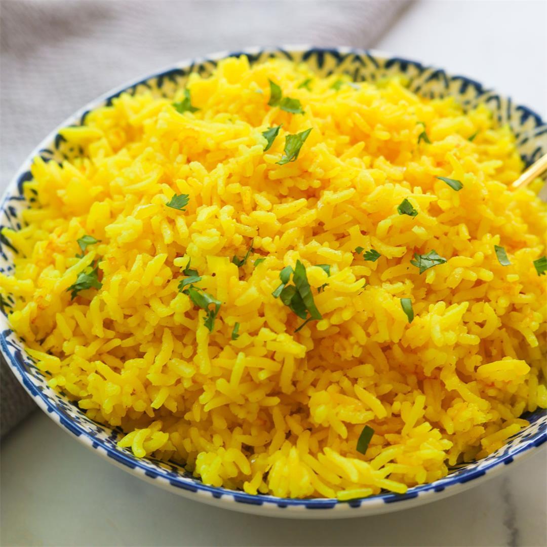 Easy Rice Cooker Turmeric (Yellow) Rice