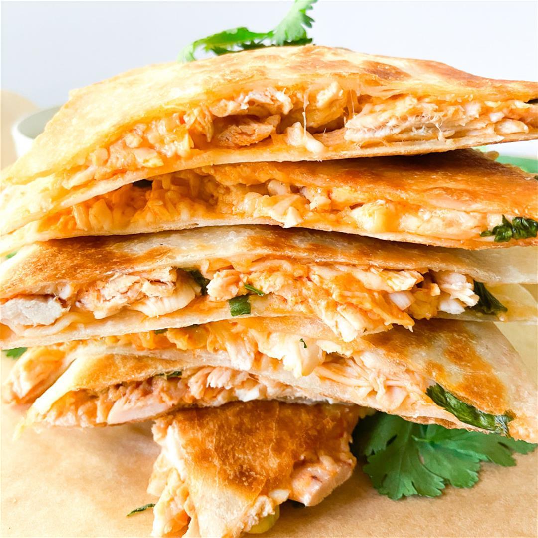 Buffalo Chicken Quesadillas (For Two) – Sugary Logic