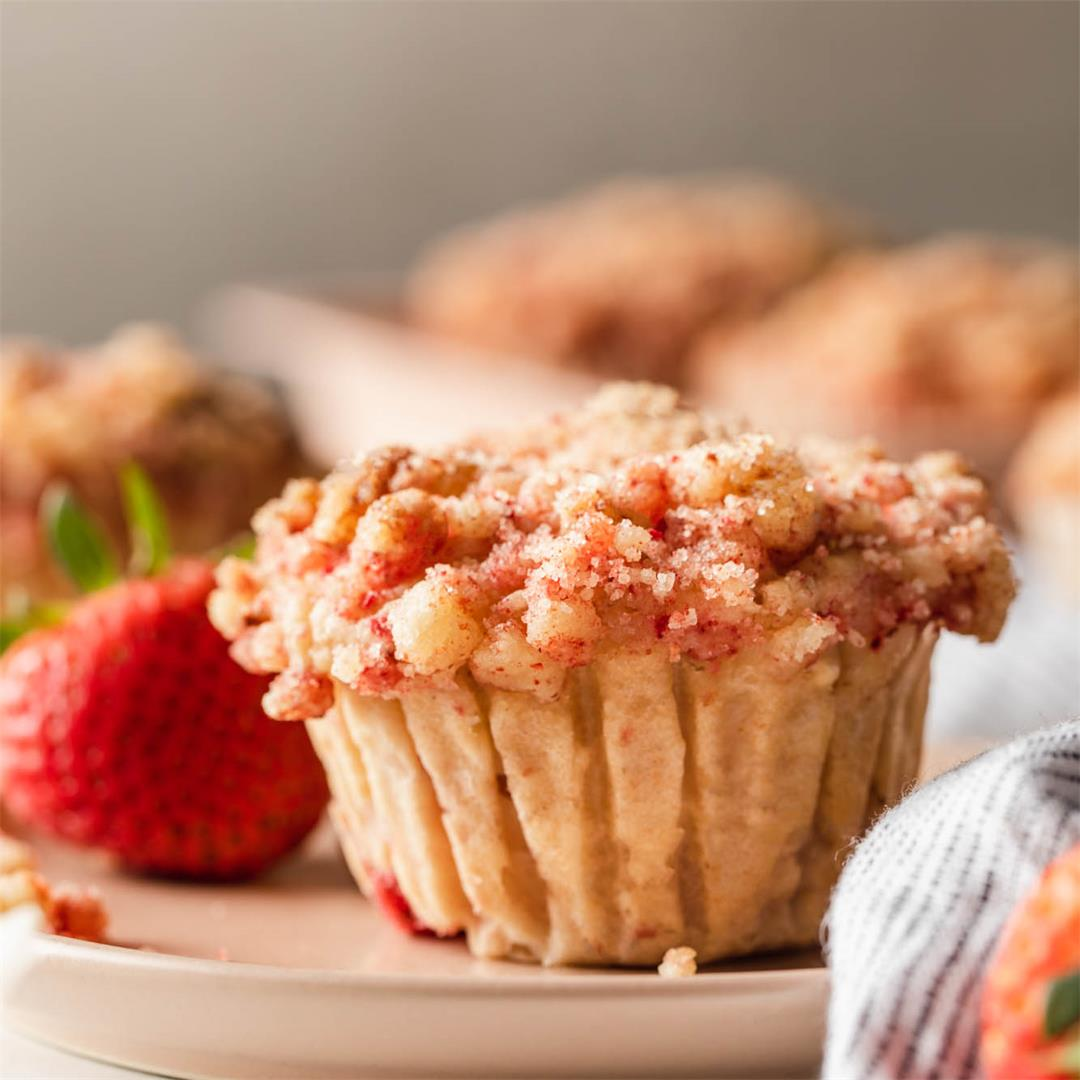 Strawberry Shortcake Muffins Vegan