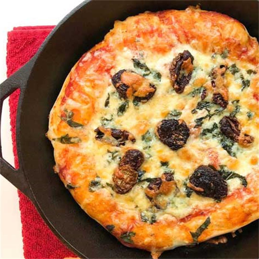 Easy Cast Iron Pizza
