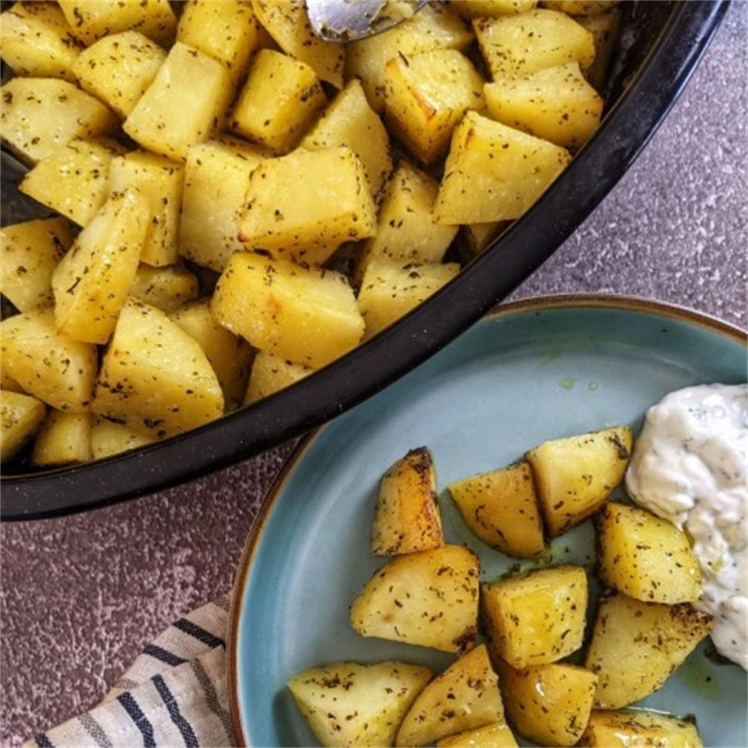 Herb Roasted Potatoes - Greek Lemony Potatoes